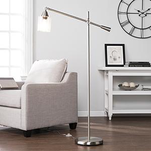 Tiernan Brushed Nickel LED Floor Lamp