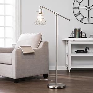 Trayden Brushed Nickel LED Floor Lamp