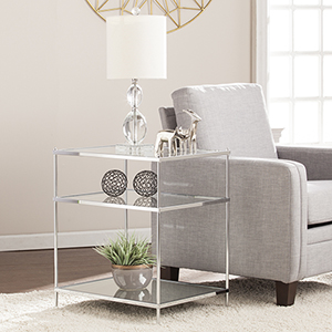 Knox Metallic Chrome Accent Table