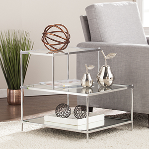Knox Metallic Chrome 21-Inch Accent Table