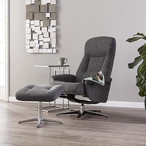 Finian Gray and Chrome Chair