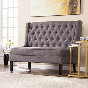 Linklea Heathered Charcoal Gray with Black Bench