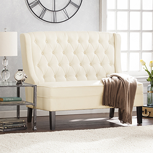 Linklea Warm Ivory with Black Bench