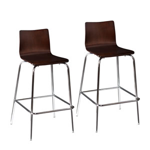 Blence Espresso Barstools, Set of 2