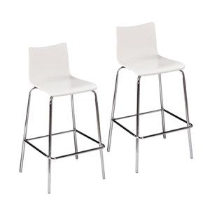 Blence White Barstools, Set of 2