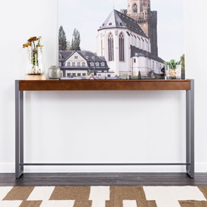 Holly and Martin Macen Dark Tobacco and Gunmetal Console