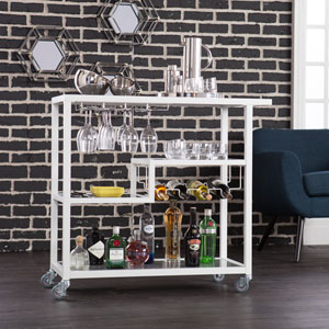Zephs White Bar Cart