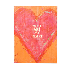 Swoon Bright Orange Wall Panel - You Are My Heart