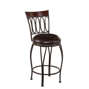 Brookshire Dark Champagne Swivel Counter Stool