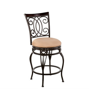 Maguire Dark Champange Swivel Counter Stool