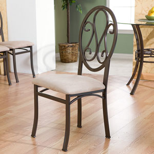 Lucianna Brown 4 Piece Chairs Set