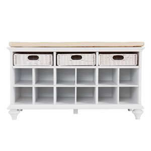 Chelmsford White Entryway Bench