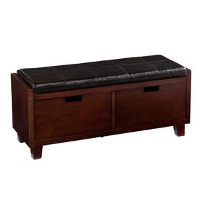 Capistrano Espresso 2-Drawer Bench