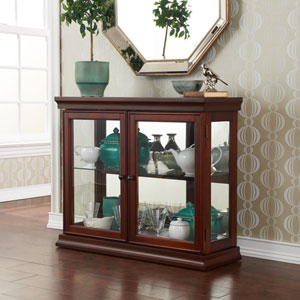 Mahogany Double Door Curio