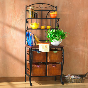 Black Iron Bakers Rack