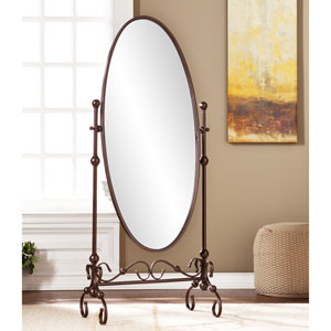Lourdes Bronze Cheval Mirror