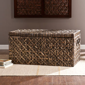 Water Hyacinth Blackwashed Storage Trunk