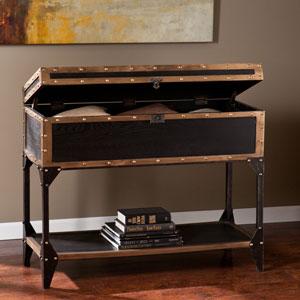 Drifton Travel Antique Black Trunk Console Table