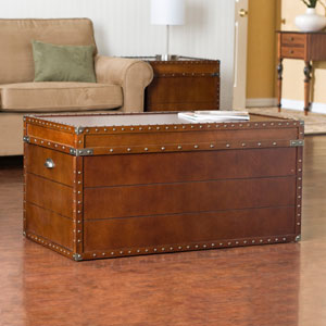 Walnut Steamer Trunk Cocktail Table