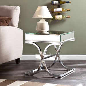 Ava Chrome Mirrored End Table