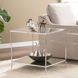 Knox Glam Chrome Mirrored End Table