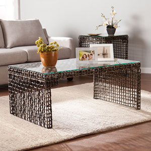 Loni Woven Cocktail Table