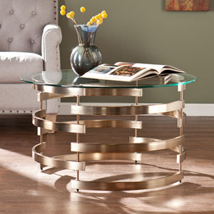 Belmar Champagne Gold Cocktail Table