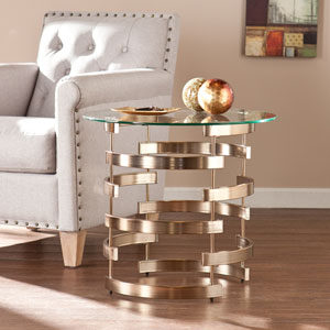 Belmar Champagne Gold End Table