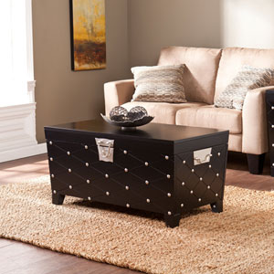 Nailhead Black Cocktail Table Trunk