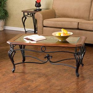 Prentice Black Cocktail Table