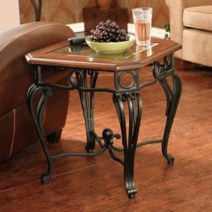 Prentice Black End Table