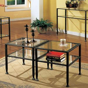 Black Metal Sofa Table