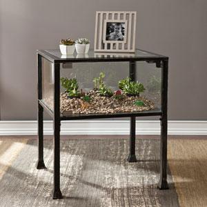 Terrarium Black End Table