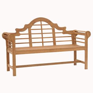 Five-Foot Teak Lutyens Bench