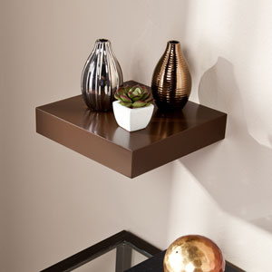 Chicago Chocolate 10 Inch Floating Shelf