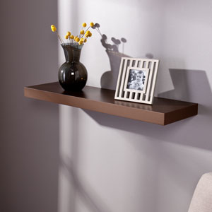 Chicago Chocolate 36 Inch Floating Shelf