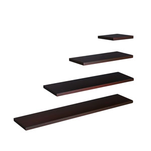 Aspen Chocolate 10 x 10 Floating Shelf