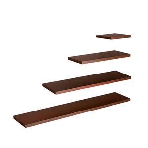 Aspen Chocolate 24 x 10 Floating Shelf