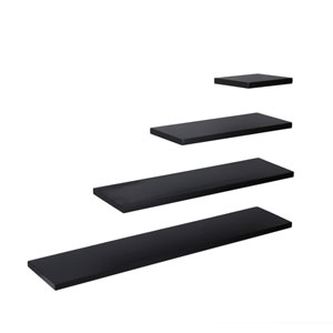 Aspen Black 24 x 10 Floating Shelf