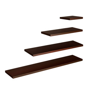 Aspen Chocolate 36 x 10 Floating Shelf