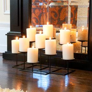 Black 9 Light Candle Candelabra