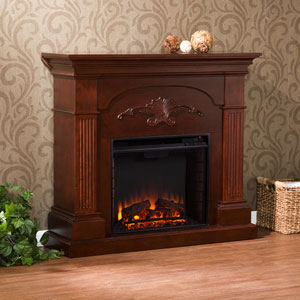 Sicilian Harvest Mahogany Electric Fireplace
