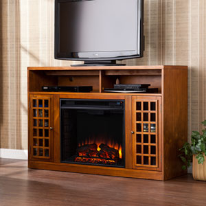 Narita Pine Media Electric Fireplace