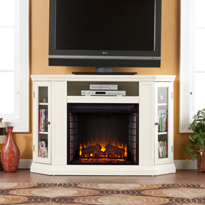 Claremont Ivory Convertible Media Electric Fireplace