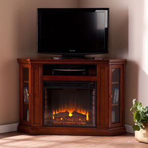 Claremont Mahogany Convertible Media Electric Fireplace
