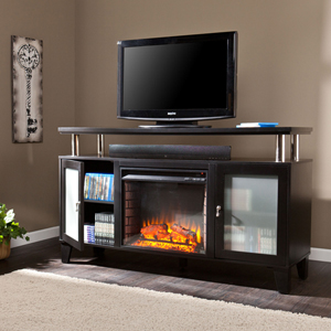 Cabrini Media Fireplace - Black