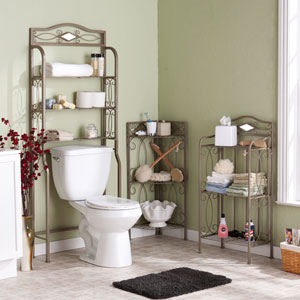 Reflections Pewter Bath Storage Collection