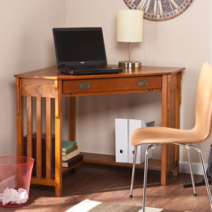 Oak Corner Computer Desk