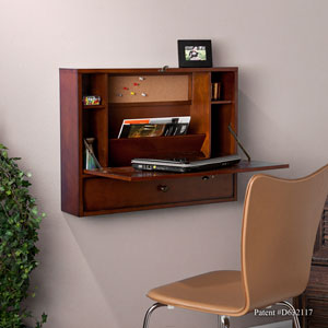 Brown Wall Mount Laptop Desk