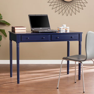 Janice Farmhouse Navy 2-Drawer Writing Desk